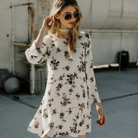 Juliet Swiss Dot Floral Dress-FINAL SALE