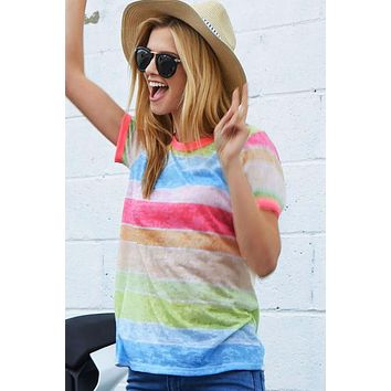 Pastel Stripes Top