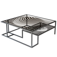 "AFTER VICTOR // ""Op Art"" cocktail table for Kelly Behun Studio"