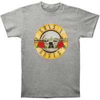 Guns N Roses Men's  Bullet On Heather T-shirt Heather Rockabilia