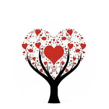 Valentine Heart Tree Snap 20mm for Snap Jewelry