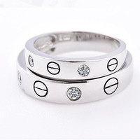 2pcs Free Engraving his and her rings, Wedding Couples Rings, Lovers rings, his and hers promise ring sets, wedding rings, matching rings