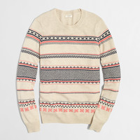 FACTORY WARMSPUN FAIR ISLE SWEATER
