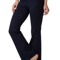 Blue Jasmine Bootcut Yoga Pant With Fabric - Blue