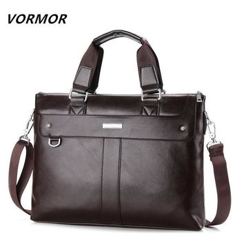 Men Casual Briefcase Business Shoulder Bag Leather Messenger Bags Computer Laptop Handbag Bag Men's Travel Bags