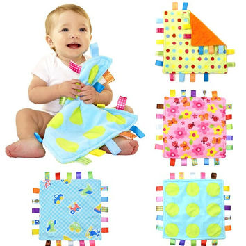 Baby Comforting taggies Blanket Multifunctional baby taggies toys soft toddler Grasping fantoche towel newborn reassure towel