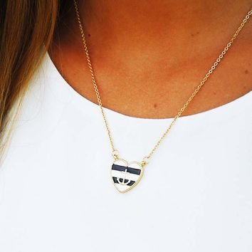 Heart Of A Sailor Necklace: Gold/Multi