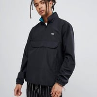 Obey Runaround Track Overhead Jacket With Funnel Neck In Black at asos.com