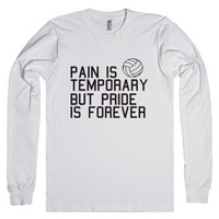 Pain Is Temporary-Unisex White T-Shirt