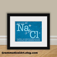 Chemistry Love Nerdy Print You're the Sodium Ion to My Chloride Ion