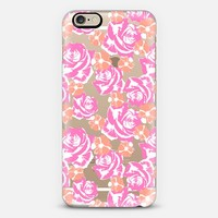 Pink Coral Roses Cosmos Pattern iPhone 6 case by Organic Saturation | Casetify