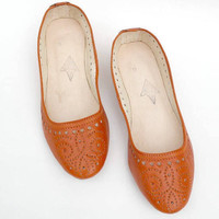 SALE Leather flats, womens leather flats,tan leather flats chaussures femme taupe cuir