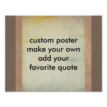 custom poster make your own add your quote