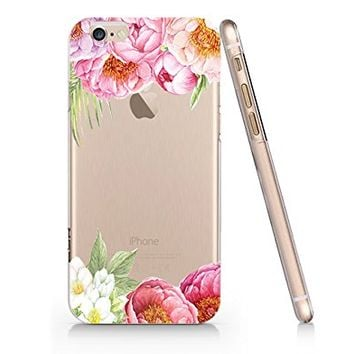 Vintage Flower Tropical Flower Slim Iphone 6 6s Case, Clear Iphone Hard Cover Case For Apple Iphone 6 6s Emerishop (NLA103.6sl)