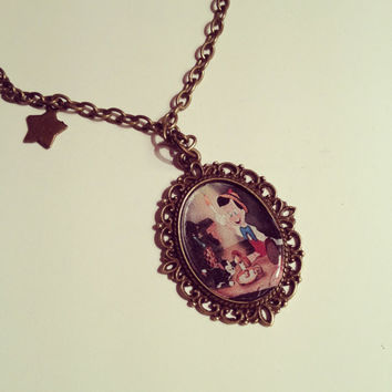 Disney Pinocchio Cameo Necklace by RabbitJewellery on Etsy