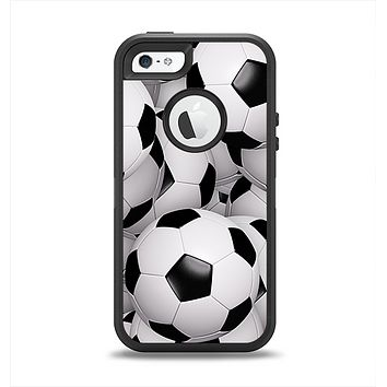The Soccer Ball Overlay Apple iPhone 5-5s Otterbox Defender Case Skin Set