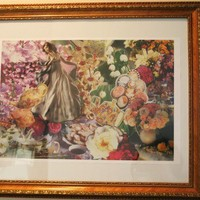 Vintage Floral Collage Porcelain Beauty Art Print by HaleyLouise