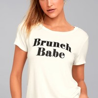 Brunch Babe White Tee