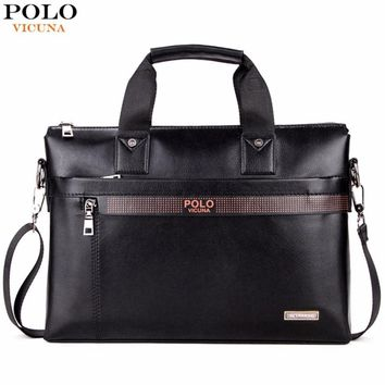 VICUNA POLO  Business Briefcase Leather Laptop Bag