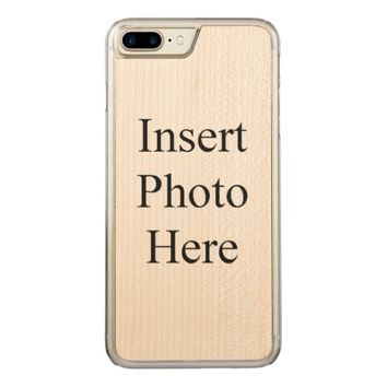 Custom Photo Collage Carved iPhone 7 Plus Case