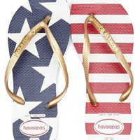Havaianas Slim Stars And Stripes Americana Flip Flops | Dillards