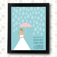 Wedding Guest Book INSTANT DOWNLOAD bridal shower bride umbrella dress  / printable pdf / unique guestbook alternative ideas signature sign