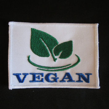 Vegan No Animal Kill Cruelty Free Sustainabltute Green  Iron or Sew On Patch