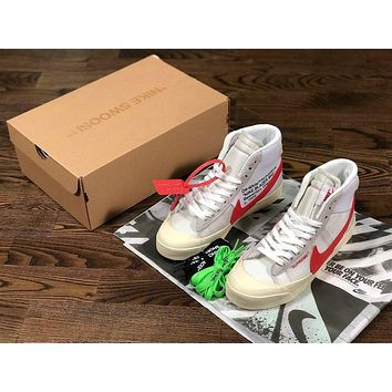 Original Off-White Nike Supreme white red