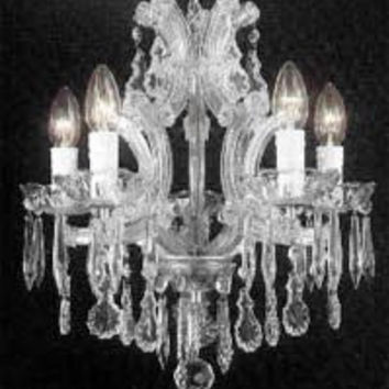 "Swarovski Crystal Trimmed Chandelier! The Gallery Maria Theresa 4 Lights Chandelier H15"" X W15"" - A83-SILVER/1536/4SW"