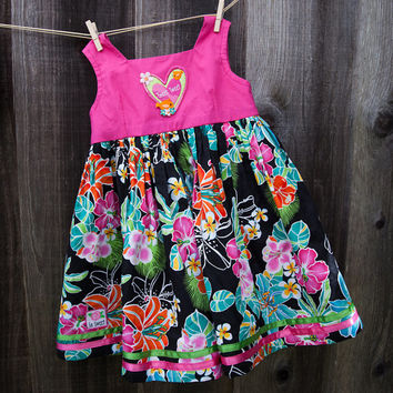 Pink Floral Girl Dress and Panty Set- Toddler Dress- Summer Dress-Baby Girl-Baby Dress 12-24M