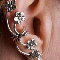 Silver Forget Me Not Ear Cuff