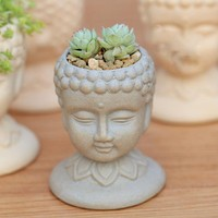 Buddha Head Plant Pot
