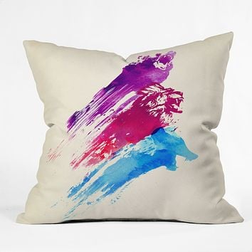 Robert Farkas Wild Colours Throw Pillow