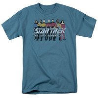 Star Trek Line Up Adult T-Shirt