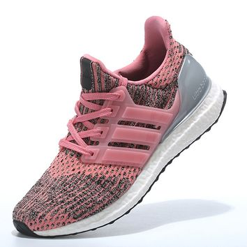 "Women ""Adidas"" Boost Fashion Trending Pink Leisure Running Sports Shoes"