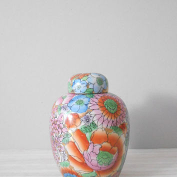 fabulous pink flower ginger ceramic vase // asian by simplychi