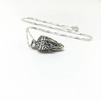 Stash Necklace Sterling Silver Stash Pendant Pill Box Necklace Secret Locket Celtic Triquetra Claddagh Pendant Secret Box Locket Pendant