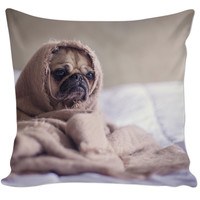 Pug On A Pillow