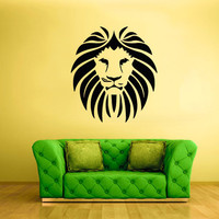 rvz1732 Wall Decal Vinyl Sticker Stickers Lion Tiger Cat Africa Animal