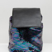 ASOS Sequin Drawstring Backpack
