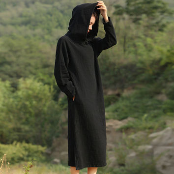 Long Dark Robes With Hood