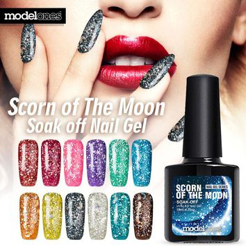 Diamond Glitter UV Nail Gel Polish Soak Off Led UV Gel Nail Polish Use With Base Top Gel Polish Need UV Lamp Gel Nail