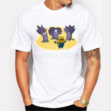 Asian Size New arrival men customized t-shirt short sleeve casual tee Minions world design cartoon printed funny cool tops
