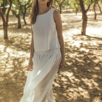 Casual wedding dress boho, Loose wedding dress, Simple hippie wedding dress, Informal wedding dress bohemian style, Jasmin clematis white