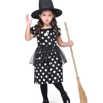 MOONIGHT Girl Dress Kids Halloween Witches Costumes Fancy Costume For Girls Movie Cosplay Costumes Festival Costume Parties