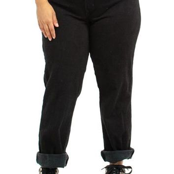 Vintage 90's Back in Black Mom Jeans - L