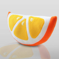 Orange Pillow Cute Pillow by WinterPetals on Etsy