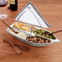 Rowboat Serving Bowl with Napkin Holder | Unique hostess party gift