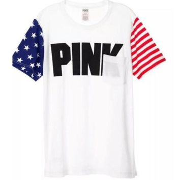 Fashion Victoria's Secret PINK Short Sleeve T-Shirt Top