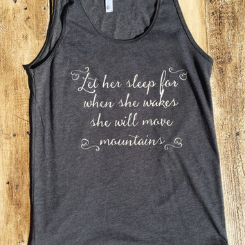 She will move mountains. - American Apparel Tank Top